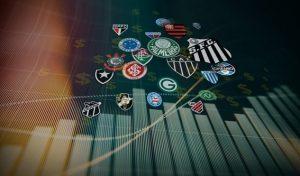 gráfico com escudos dos clubes brasileiros