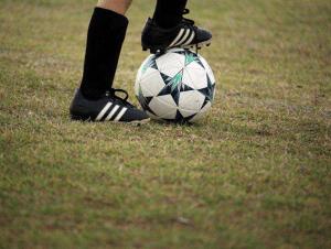 bola de futebol dominada
