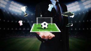 hologramas de elementos de futebol